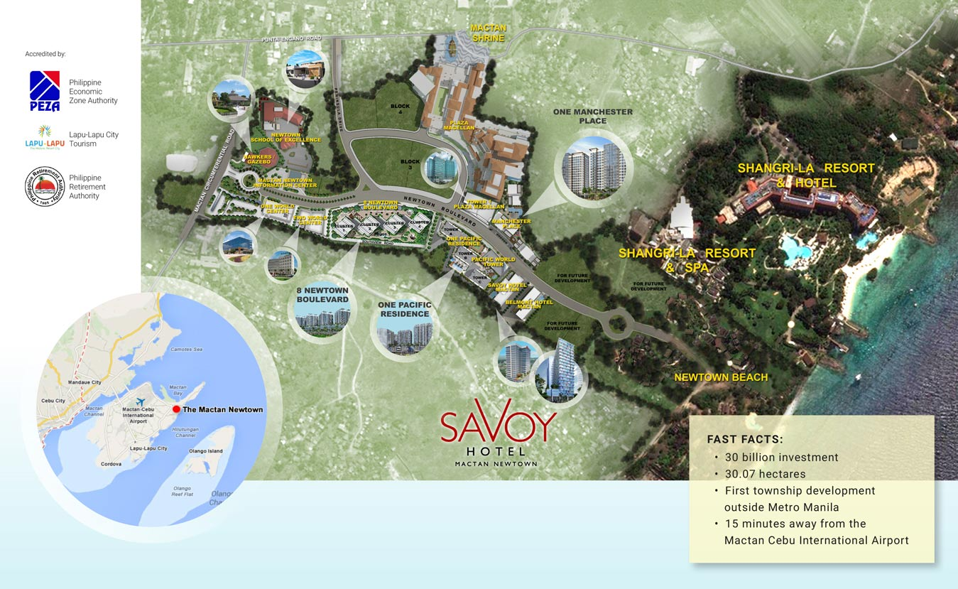Mactan newtown site map and belmont luxury hotel gallery